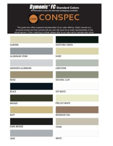 Tremco dymonic fc color chart also sealants waterproofing coating tools  more cmi serving the rh conspecmaterials