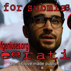 flier for submissions to queeratine anthology