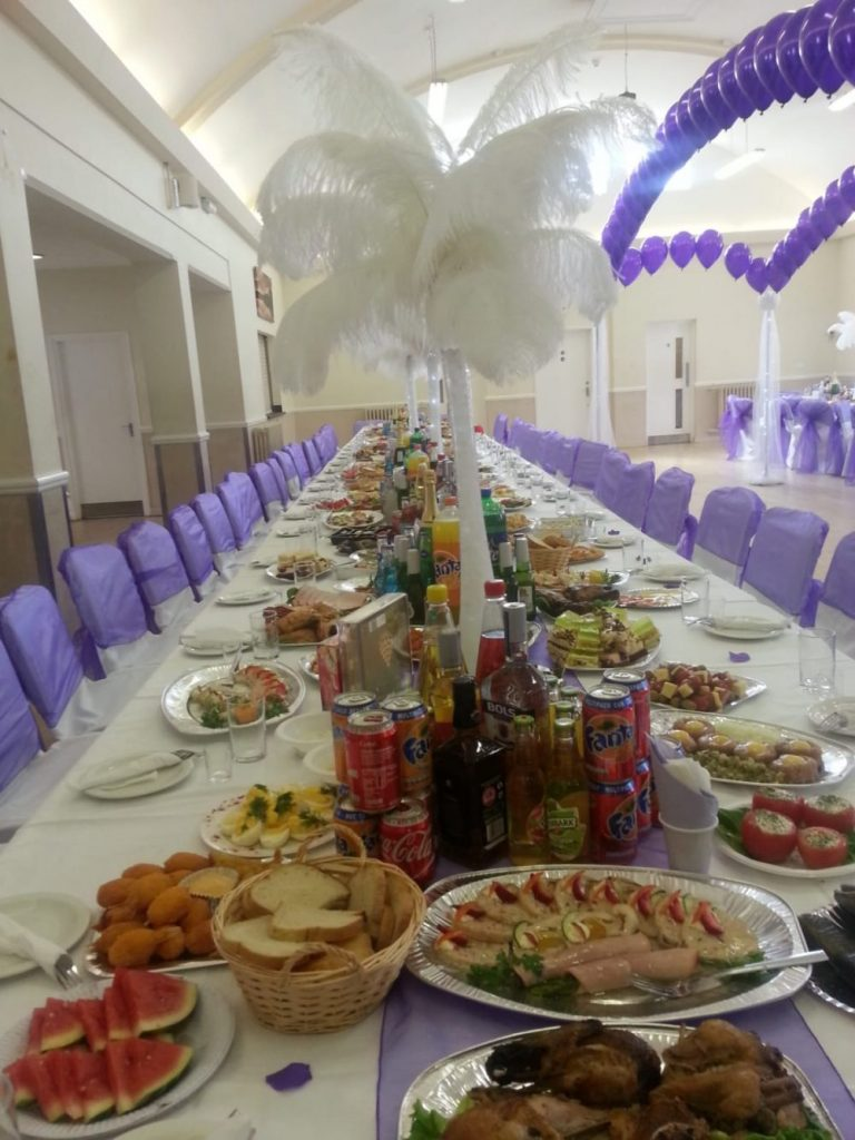Table decoration and buffet