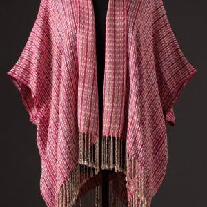 Luxurious silk blend capelet reversible – Magenta