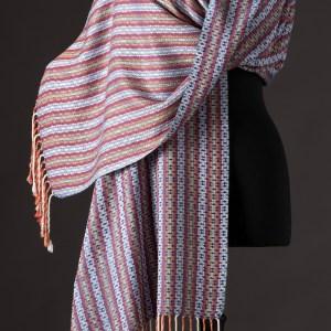 Luxurious silk blend wrap reversible – Emperor blue
