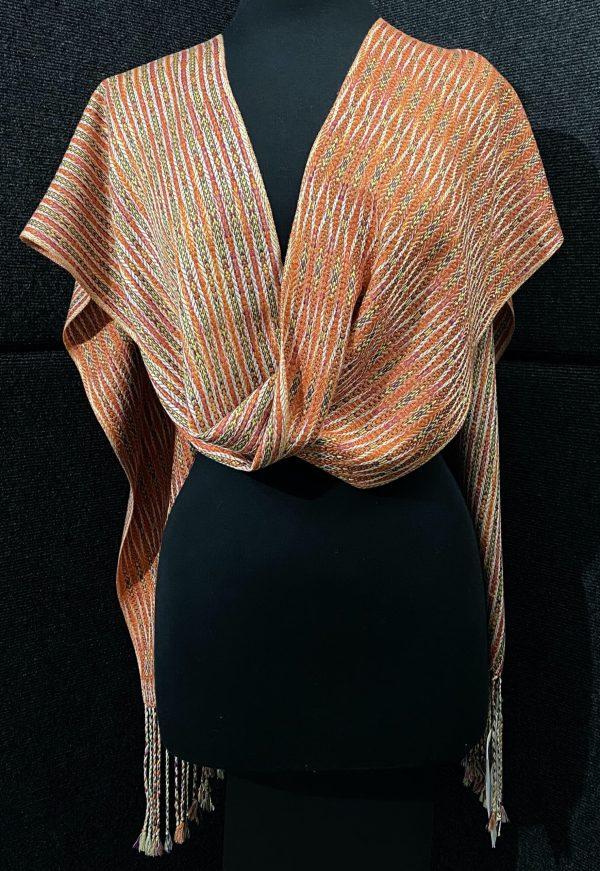 SBS-30 Mardi Gras luxe silk scarf