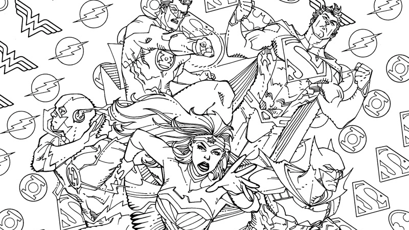 On The Shelf: #DCComics Alternative Coloring Book Covers