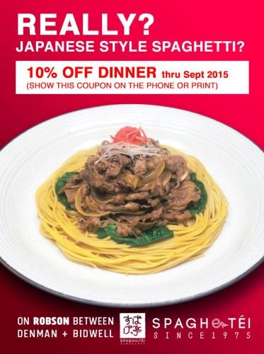 Spaghetei Coupon