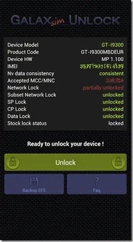 Débloquer Samsung Galaxy Note, Note 2 ou S3