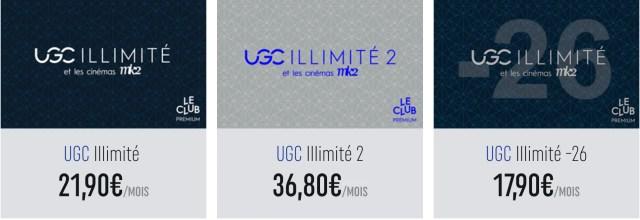 Tarifs abonnements UGC Illimité