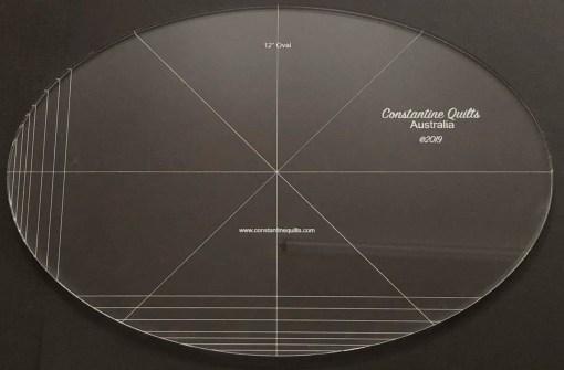12 oval ruler