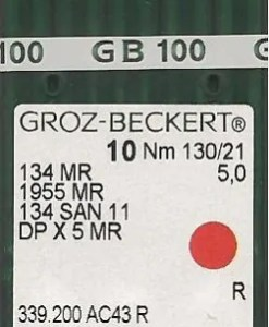 Groz Beckert 134x5 MR5.0