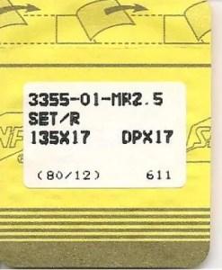 Singer MR2.5 135x17 size 12 needles