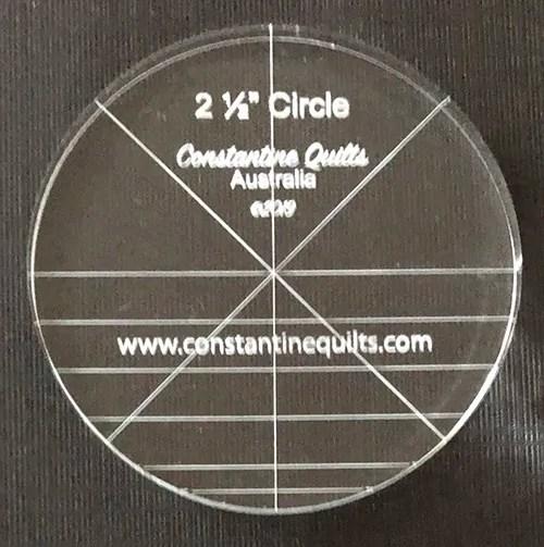 "2 1/2"" circle"