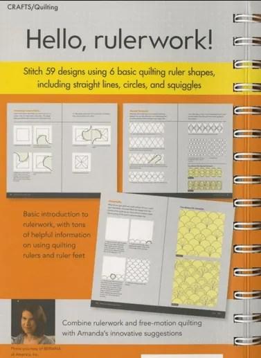 Rulerwork Quilting Idea Book Review