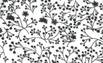 Flutter wide fabric black on white