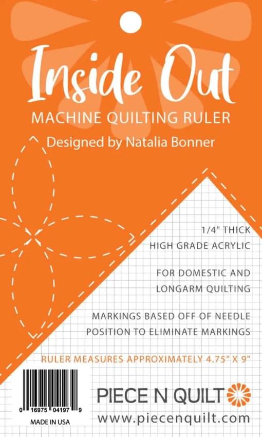 Insideout machine quilting ruler