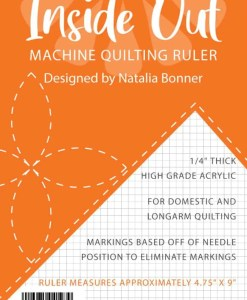 Insideout machine quilting ruler