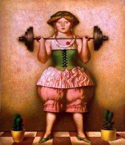 The Weight-lifting Girl - Oleg Dozortzev