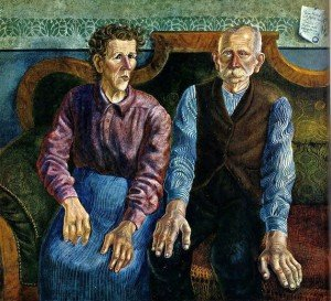 1924 Otto Dix (German artist, 1891-1969) Foundry Worker Franz  otto Dix 1862-1942 and Seamstress Louise Amann Dix 1864-1953 - The Artist's Parents 1924