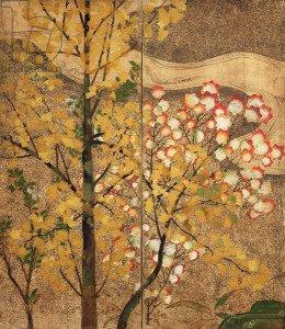 Autumn Tree (painted silk)