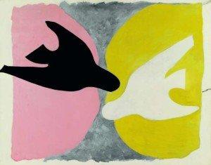 Georges-Braque-L'Oiseau-noir-et-l'oiseau-blanc1960