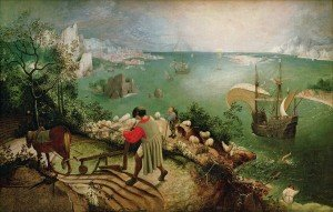 Pieter Bruegel La chute d'Icare, copie 1595 1600