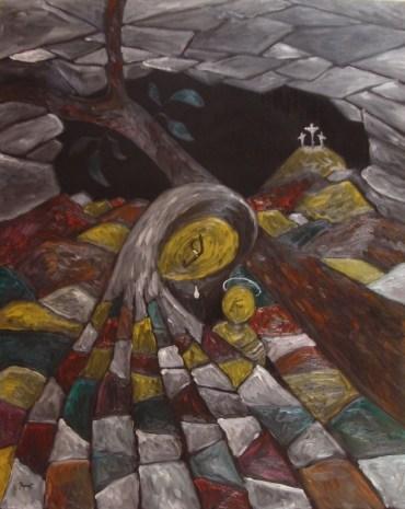 Instinct matern, ulei pe pânză, 80x100 cm, an: 2009