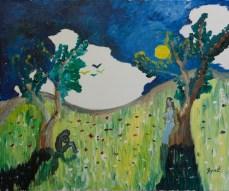 Singurătate, ulei pe pânză, 65x54 cm, an: 2008