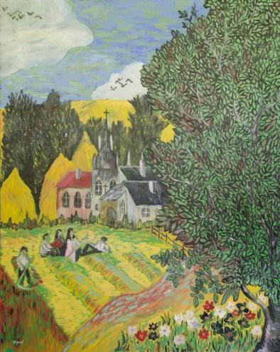 Vară, ulei pe pânză, 70x92 cm, an: 2007