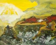 Politica- războiul rece, ulei pe pânză, 80x60 cm, an: 2007