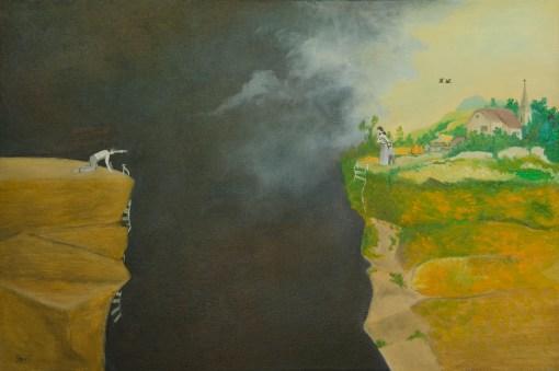 Hazardul și nașterea angoasei III, ulei pe pânză, 60x40 cm, an: 2012