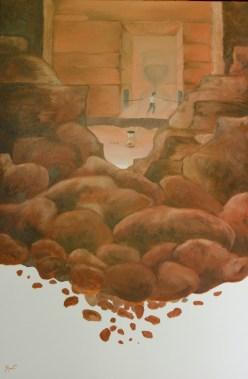 Metafizica I- Cunoașterea, ulei pe pânză, 72x92 cm, an 2012