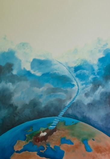 Metafizica V- Infinit, ulei pe pânză, 73x92 cm, an: 2012
