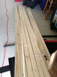 Wood strips for the wing framing.