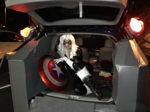 Quinjet with Black Cat