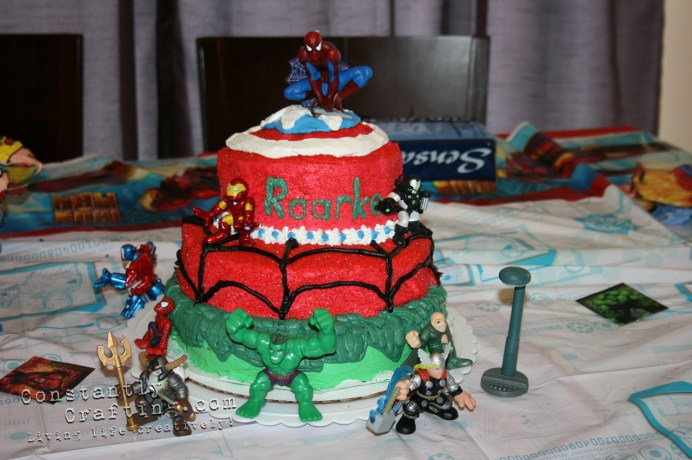 Marvel Superhero Cake