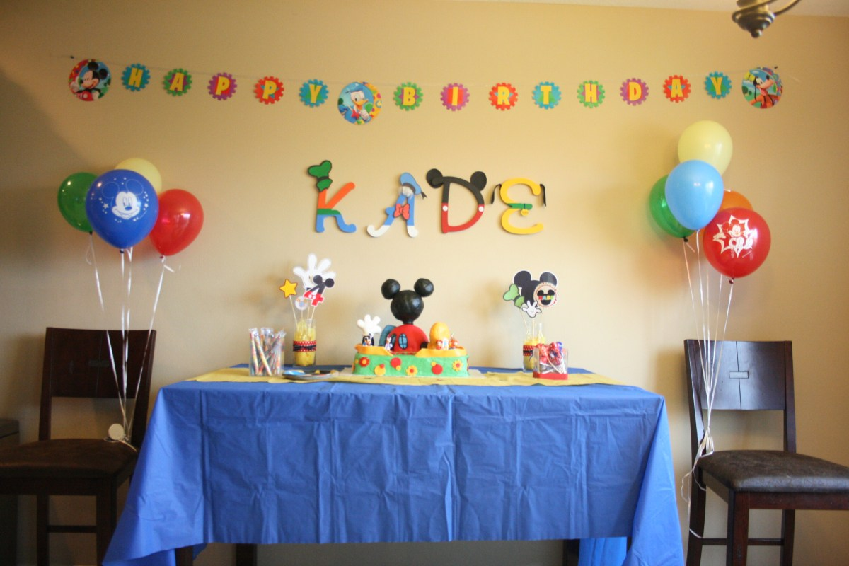 Mickey Mouse Club House Party – Constantly Crafting