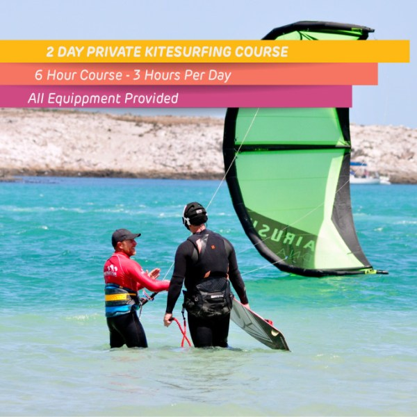 Private kitesurfing course in Langebaan 6 hours