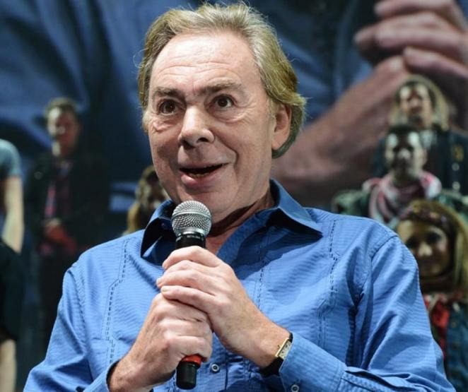 """Andrew Lloyd Webber at the curtain call at the final performance of """"Jesus Christ Superstar 
