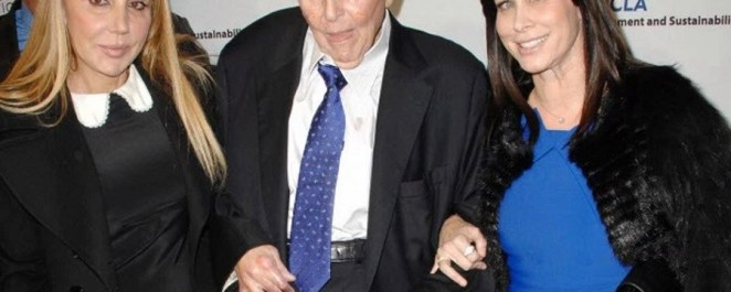 Sumner Redstone is with his exes Manuela Herzer (left) and Sydney Holland in 2013 |Photo credit: AP