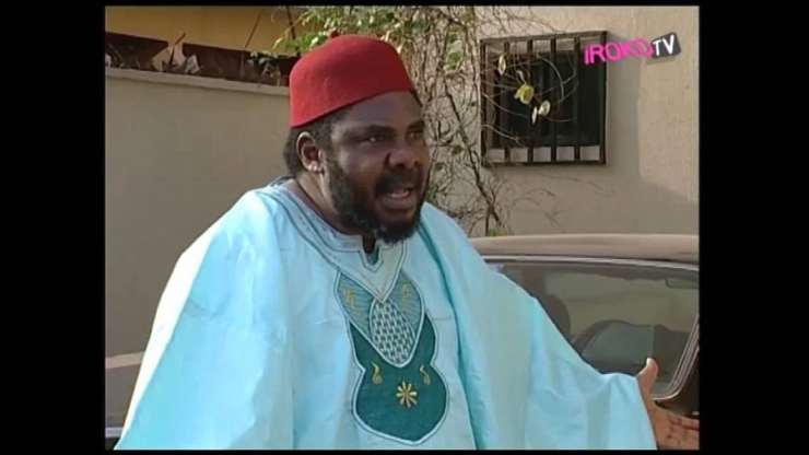 "Pete Edochie in a movie titled ""Love And Politics"""