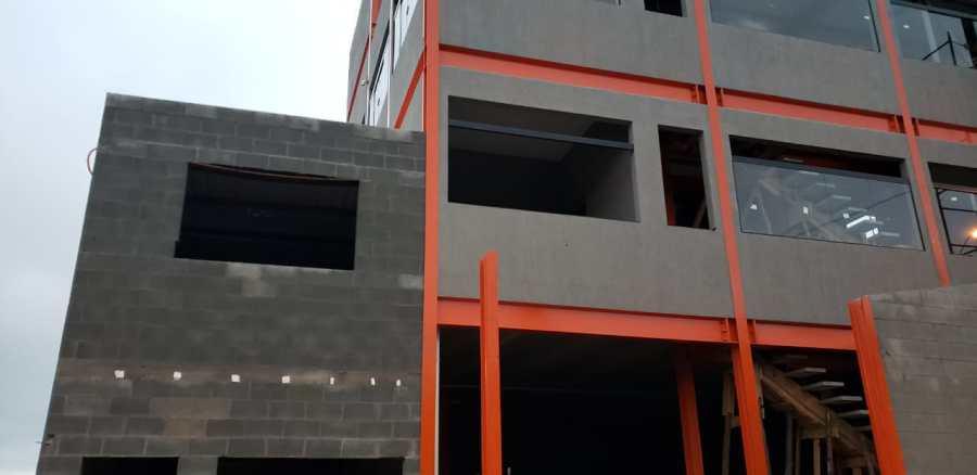 aplicação de grafiato direto no bloco