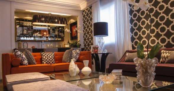 06 sofa laranja decoracao sofisticada