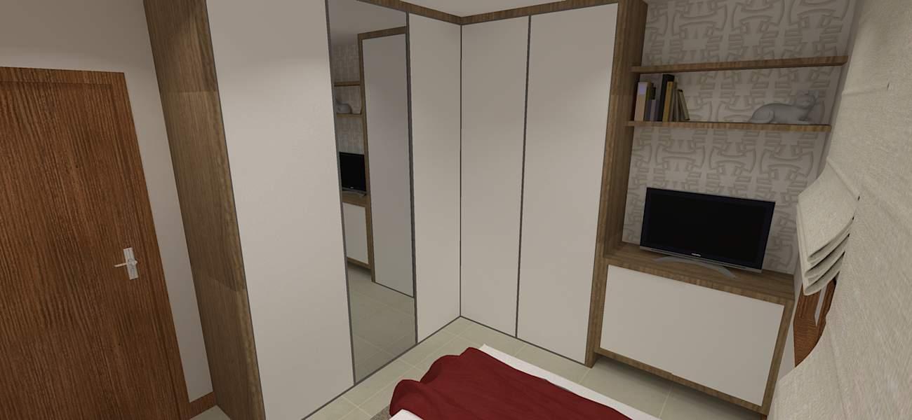 Quartos de casal pequenos modernos simples ideias fotos - Armarios para dormitorios pequenos ...