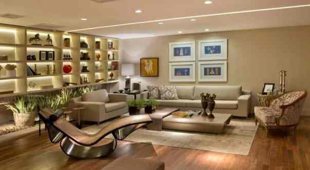 sala com tapete para sofa e duas poltronas