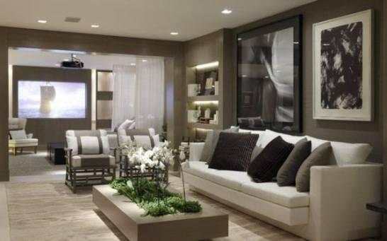 poltrona elegante sala de estar classica