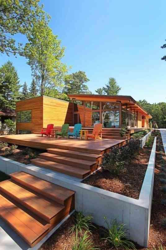 02 casa de campo rustica vidro e madeira