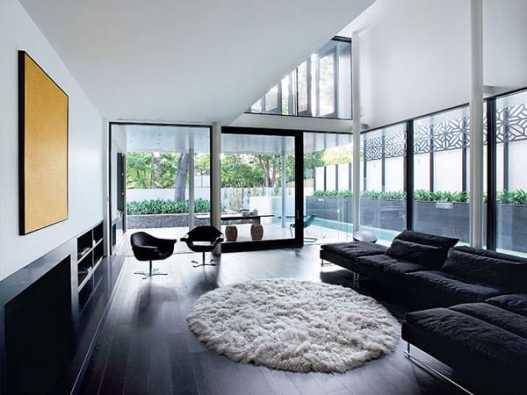 09 sala com amadeirado preto no piso