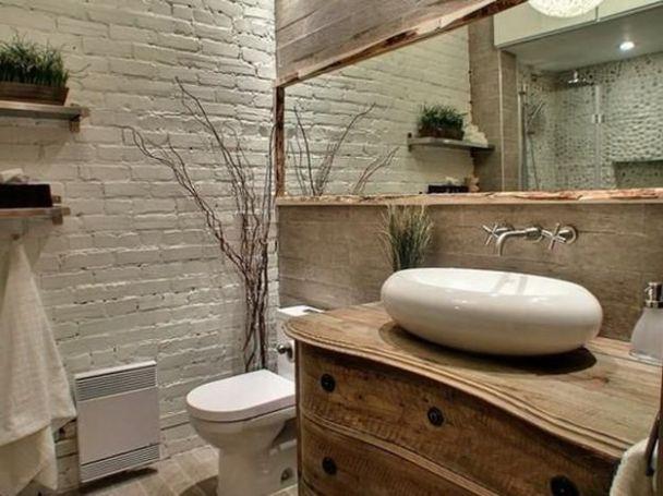 13 lavabo com tijolo de patina antigo