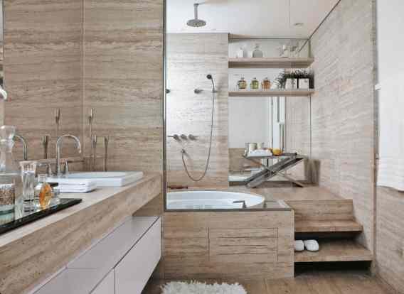 18 banheiro com banheira elegante e chique