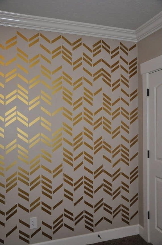 15 ideias para decorar com fita isolante chevron, portas e -> Decorar Parede Com Fita Adesiva