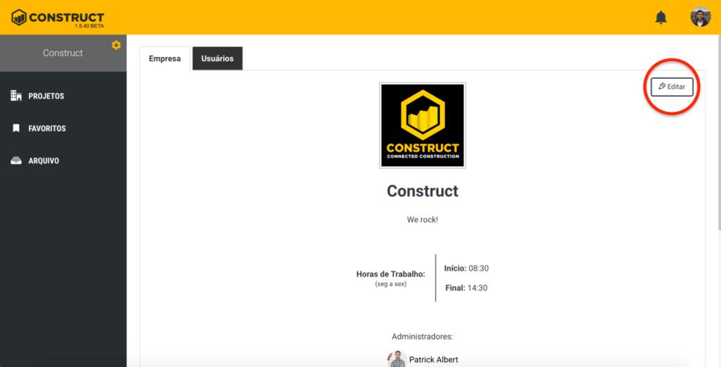 Pagina da Empresa