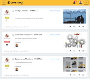 exemplo de relatório diário de obra (RDO) criado no Construct App